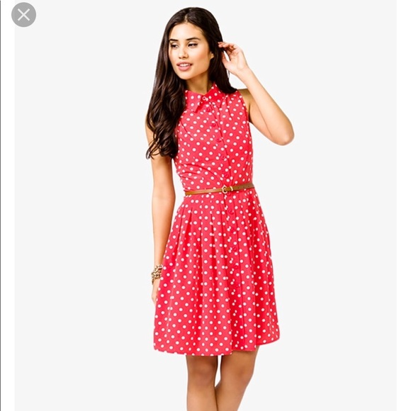 2ba39f352626 Forever 21 Dresses | Nwt Red And White Polka Dot Dress Small | Poshmark